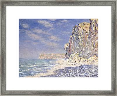 Cliffs Near Fecamp Framed Print by Claude Monet