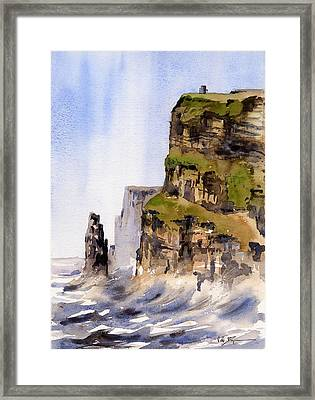 Clare   The Cliffs Of Moher   Framed Print by Val Byrne