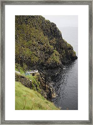 Cliffside Carrick-a-rede Northern Ireland Framed Print by Betsy Knapp