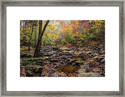 Clifty Creek In Hdr Framed Print by Paul Mashburn