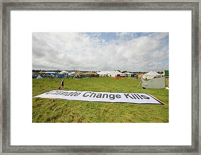 Climate Camp Protest Framed Print by Ashley Cooper
