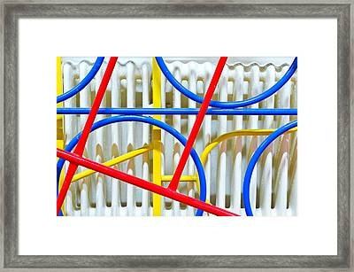 Climbing Frame Framed Print by Tom Gowanlock