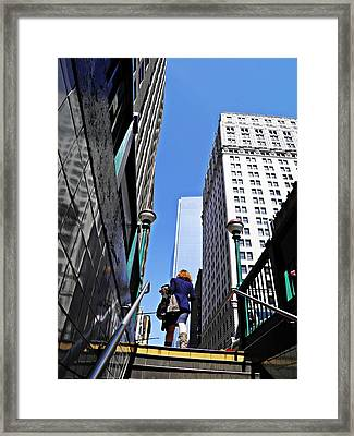 Climbing Out Framed Print by Sarah Loft