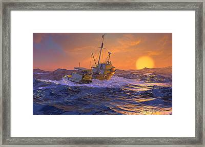 Climbing The Sea Framed Print by Dieter Carlton