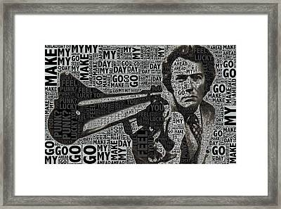Clint Eastwood Dirty Harry Framed Print by Tony Rubino