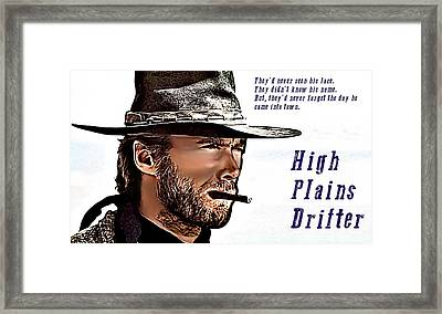 Clint Eastwood High Plains Drifter Framed Print by James Griffin