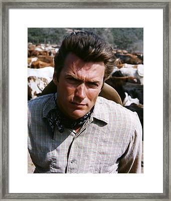 Clint Eastwood In Rawhide  Framed Print by Silver Screen