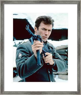 Clint Eastwood In Where Eagles Dare  Framed Print by Silver Screen