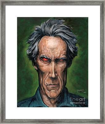 Clint Eastwood Framed Print by Mark Tavares