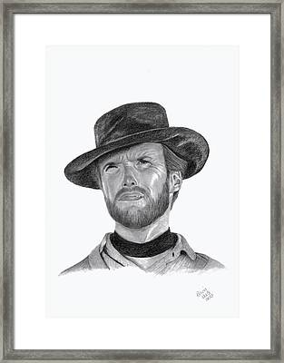 Clint Eastwood Framed Print by Patricia Hiltz