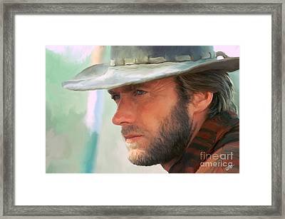 Clint Eastwood Framed Print by Paul Tagliamonte