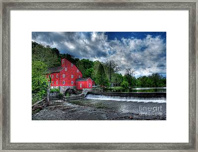 Clinton Red Mill House Framed Print by Lee Dos Santos