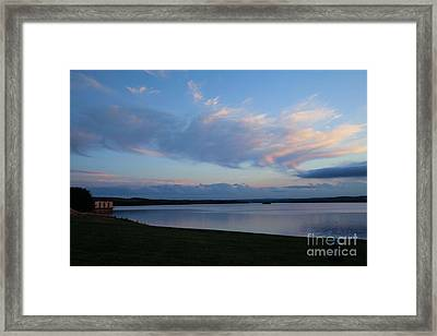 Clinton Sunset Framed Print by Sue OConnor