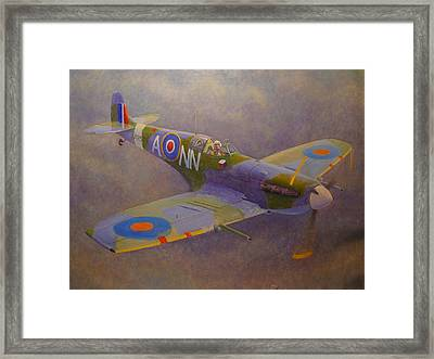 Clip Wing Spitfire Framed Print by Terry Perham