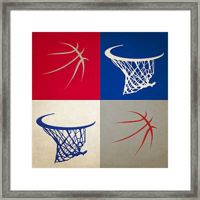 Clippers Ball And Hoop Framed Print by Joe Hamilton