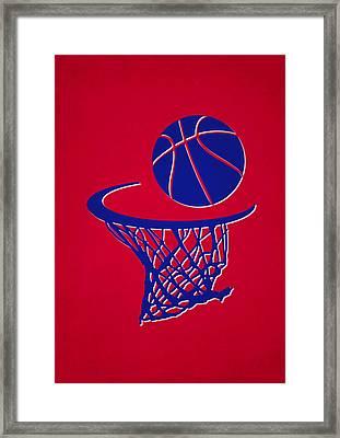 Clippers Team Hoop2 Framed Print by Joe Hamilton
