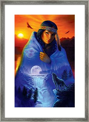 Cloak Of Visions Portrait Framed Print by Andrew Farley