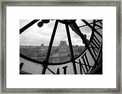 Clock At Musee D'orsay Framed Print by Chevy Fleet