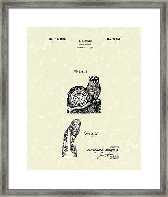 Clock Casing 1927 Patent Art Framed Print by Prior Art Design