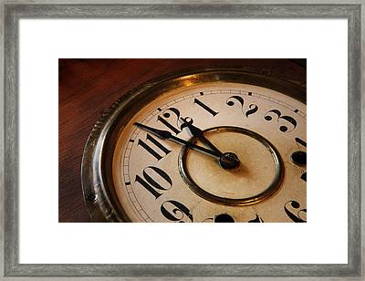 Clock Face Framed Print by Johan Swanepoel