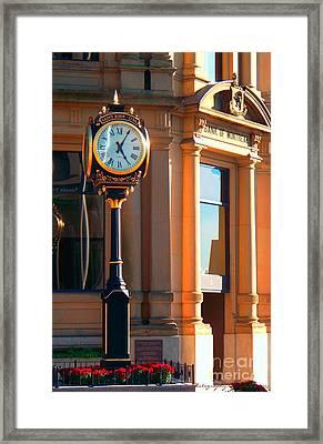 Clock Of New Brunswick Framed Print by Gena Weiser