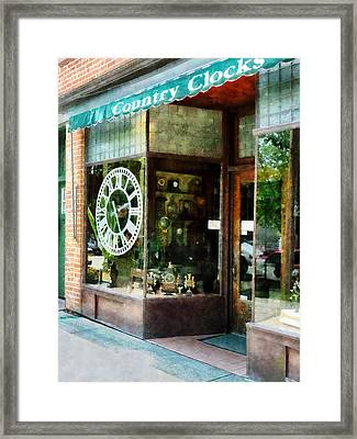 Clock Shop Framed Print by Susan Savad