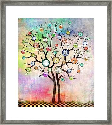 Clock Tree  Framed Print by Mark Ashkenazi