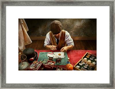 Clockmaker - A Demonstration In Horology Framed Print by Mike Savad