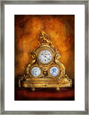 Clockmaker - Anyone Have The Time Framed Print by Mike Savad
