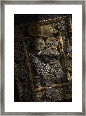 Clockwerx Framed Print by Ron Schwager