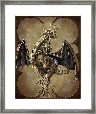 Clockwork Dragon Framed Print by Rob Carlos