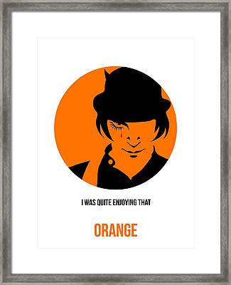 Clockwork Orange Poster 1 Framed Print by Naxart Studio