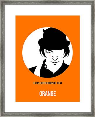 Clockwork Orange Poster 2 Framed Print by Naxart Studio