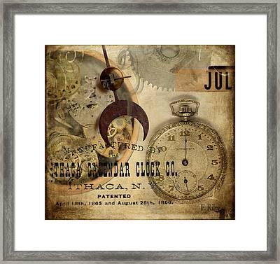 Clockworks Framed Print by Fran Riley