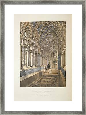 Cloister Of The Mediaevel Court Framed Print by British Library