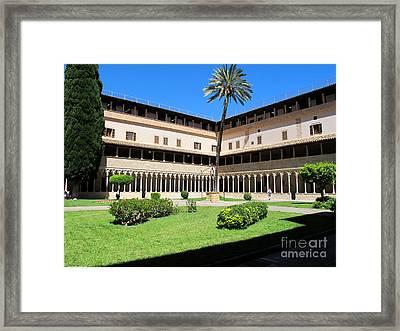 Cloister On Mallorca Framed Print by Art Photography