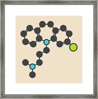 Clomipramine Tricyclic Molecule Framed Print by Molekuul