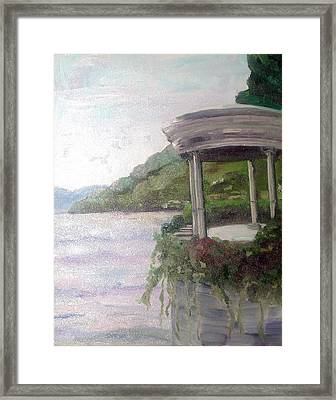 Clooney's View Framed Print by Linda Scott