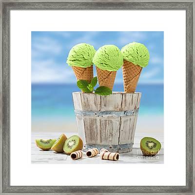 Close Up Ice Creams Framed Print by Amanda Elwell