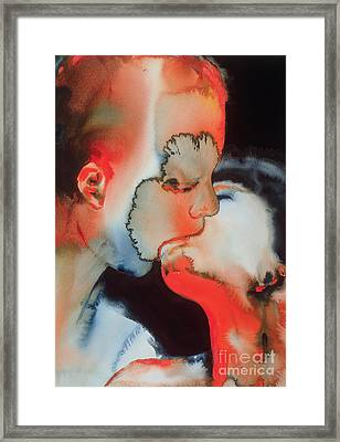 Close Up Kiss Framed Print by Graham Dean