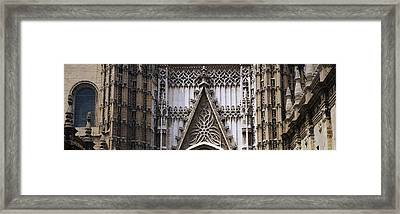 Close-up Of A Cathedral, Seville Framed Print by Panoramic Images