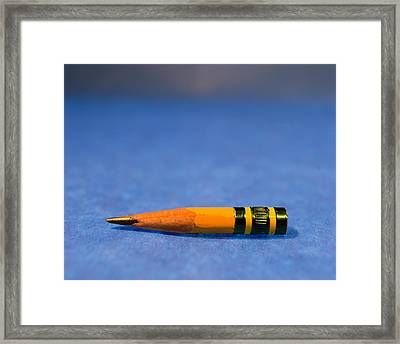 Close-up Of A Pencil Nub Framed Print by Panoramic Images