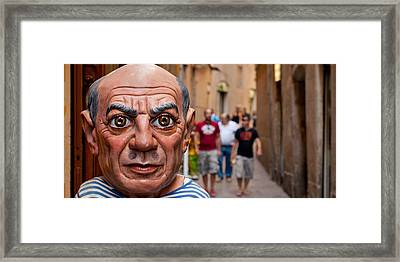 Close-up Of A Sculpture Of Pablo Framed Print by Panoramic Images