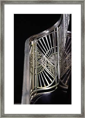 Close-up Of Art Deco Stairway Framed Print by Panoramic Images