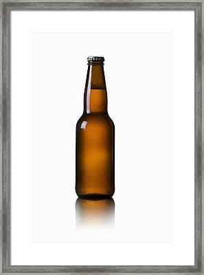 Close-up Of Beer Bottle Framed Print by Bruno Crescia