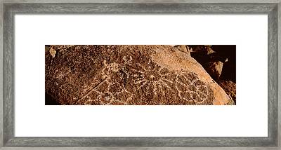 Close-up Of Petroglyphs On A Rock Framed Print by Panoramic Images
