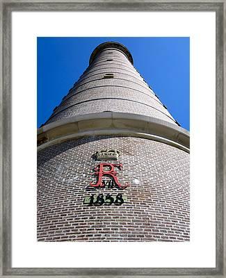 Close Up Of Skagen Lighthouse Denmark Framed Print by Konni Jensen