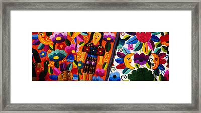 Close-up Of Textiles, Guatemala Framed Print by Panoramic Images