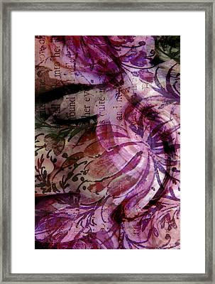 Close Your Eyes Framed Print by Angelina Vick