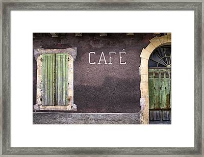 Closed Cafe In South-west France Framed Print by Georgia Fowler